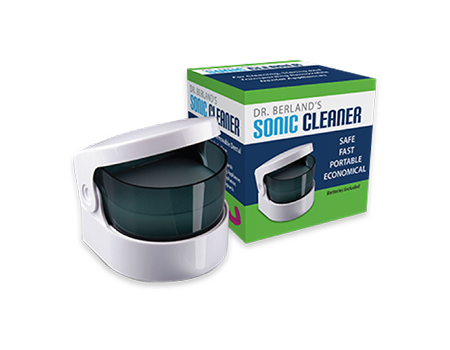 Sonic Cleaner for dentures, retainers, guards and sleep apnea devices